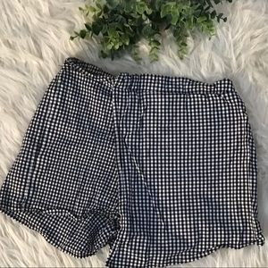 🎁5 For $15 Girls Gingham Plaid Faux Wrap Shorts